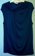 SEXY HELMUT LANG DARK BLUE SLEEVELESS TOP, NWT, SIZE M, MADE IN USA, ORG PR $210