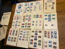 GB stamps QE II mint and used sets 12 leaves KGB12