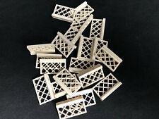 2 x LEGO® 3185 Gitter Zäune althellgrau gebraucht wie auf dem Foto.