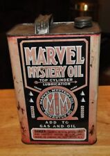 Vintage Marvel Mystery 1 Gallon Oil Can, Top Cylinder Lubrication Spout