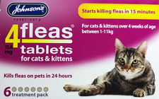 FLEA TABLETS FOR CATS & KITTENS STARTS KILLING IN 15 MINUTES 6 TREATMENT PACK