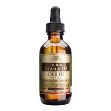1 bottle Solgar Vitamin D3 Liquid 2500 IU 59 Ml UK Seller!