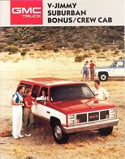 1987 GMC V-Jimmy Suburban Sierra Bonus/Crew Cab Dealer Sales Brochure