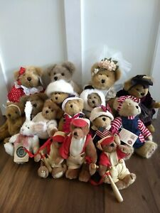 Boyd's Bears Lot of 16 Plush Collectibles Most with tags Estate Find