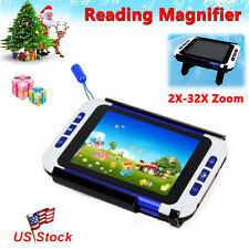 "3.5""LCD Screen Portable Low Vision Electronic Video Magnifier Reading Aid 2x-32x"