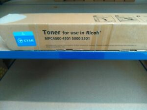 COMPATIBLE RICOH MPC5501 CYAN TONER CARTRIDGE, NEW, FREE DELIVERY