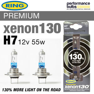 RW3377 Ring H7 Xenon 130 Performance Headlight Bulbs 12v 55w H7 Px26d (x2)
