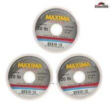 (3) Maxima Chameleon Monofilament Leader Material 20 lb ~ 27 Yd Fishing Line ~
