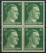 Germany Third Reich 1944 SG#894, 42pf Emerald Green Adolf Hitler MNH Block#D5879