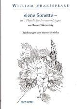 Shakespeare siene Sonette in´s Plattdüütsche oewerdrage NEU