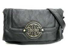 Auth TORY BURCH Shoulder Cross Body Bag Leather Black $0 Shipping 40160493800 P
