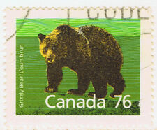 Canada #1178(5) 1989 76 cent Mammal Definitives - Grizzly Bear Used