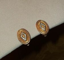 Burberry Burberrys Clip On Signed Gold Tone Earrings gentle use