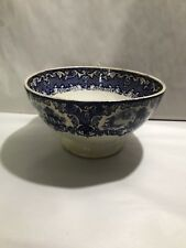 Antique Petrus Regout Maastricht Blue ABBEY Large Bowl