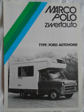 Marco Polo Ford Autohome brochure c1980's Dutch text