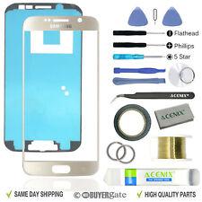 Samsung Galaxy S6 gold Remplacement Écran Verre Avant Lentille Kit Réparation + Bande 2 mm