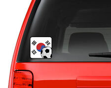 South Korean Flag Soccer Fan - Full Color Vinyl Decal for Car, Macbook, ect.