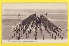 cpa FRANCE Postcard BERCK PLAGE (Pas de Calais) PARC aux MOULES Pêche Fishing