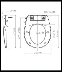Non-Electric Dual Nozzle Bidet Toilet Seat w/ Water Spray V/O/D AU