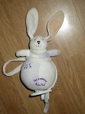 Doudou bonbons Baby'nat Babynat lapin rabbit bunny lièvre boite MUSIQUE musical