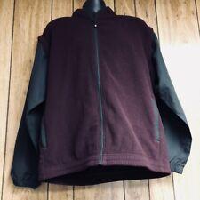 FootJoy Mens Convertible Fleece Vest Jacket Golf Maroon Black Size Medium