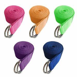 Yoga Exercise Adjustable Strap Durable D-Ring Gym Waist Leg Fitness Belt Pilates