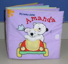 My Baby Sister Amanda BOOK Bear NEW Fabric TOY Toddler INTERACTIVE Story CLOTH
