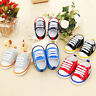 Infant Baby Boy Girl Canvas Crib Shoes Soft Sole Sneakers Anti-slip Prewalker UK
