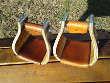 "4"" Stainless Monel Bell Ranch Roping Saddle Stirrups"