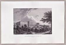 Polytechnikum Zürich - Schöne Ansicht - Stahlstich, Engraving, Gravure 1861