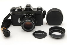 【RARE!!】Asahi Pentax SP F Black w/Super Takumar 55mm f1.8 Lens Strap Japan 1133