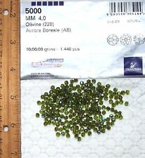 BEST PRICE Swarovski® Crystal 4mm AB OLIVINE Faceted ROUNDS 5000 Series 22 Pc