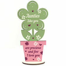 Auntie Gifts Wooden Standing Flower Auntie Birthday Gift Sister Gifts For Her