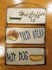 Hot Coffee Hotdog Hanging Bread Display beverage cappuccino espresso cup mug