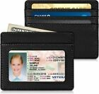 Slim Minimalist Front Pocket Wallet RFID Blocking Card Holder for Men Women