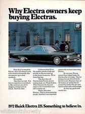 1972 BUICK Electra 225 2-door Hardtop Car Photo AD