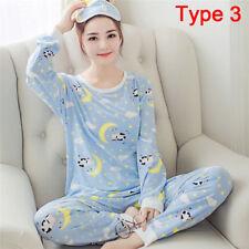 Women Cotton Pajamas Sets Cartoon Sleepwear Pajamas Long Sleeve Tracksuit Gt