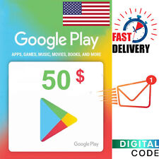 Google Play Card 50 Dollar - $50 Google Play Gift Card digital Key - US ONLY