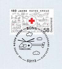 BRD 2013: Rotes Kreuz 150 Jahre! Nr. 2998 mit Bonner Ersttags-Sonderstempel! 1A!