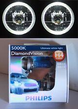PHILIPS Hi/Lo Bulb Headlight WHITE LED Halo for Toyota Hilux Suzuki Sierra