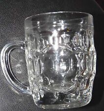 COLLECTORS TRADITIONAL DIMPLE HALF PINT RETRO LAGER BEER MUG STEIN GLASS HANDLE