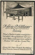 Piano Blüthner Advertising 1915 Leipzig WING PIANO ADVERTISEMENT AD