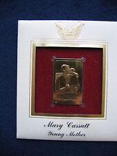 2003 Mary Cassatt Young Mother Replica FDC FDI 22kt Gold Golden Cover STAMP