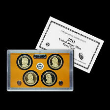 2011 S Presidential Proof Set ~ Johnson, Hayes, Garfield and Grant ~ With COA