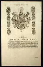 CHARLES II ARCHIDUC D AUTRICHE Blasons Heraldique