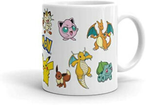 Pokemon Character Catch em' All Pikachu White New Mug Cup Present Novelty Gift