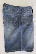 JUST JEANS Women's Stretch Blue Factory Faded Denim Shorts - Sz 10