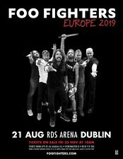 FOO FIGHTERS 2019 EUROPEAN TOUR RDS ARENA DUBLIN IRELAND PROMO POSTER