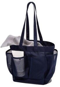 Room Essentials Mesh Shower Caddy Navy Blue