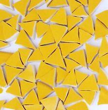 "1/2"" Broken - Cut China Mosaic Tiles - 75 Yellow Triangle Tiles"